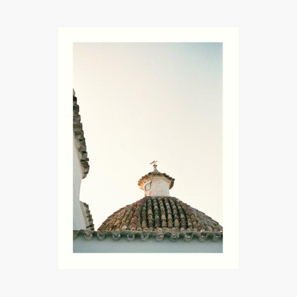 "Travel photography ""Ibiza Sunset rooftop"" | Modern wall art pastel poster spain Art Print"