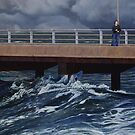 Fear of the Sea III, Oil on Linen, 91x137cm. by Jason Moad