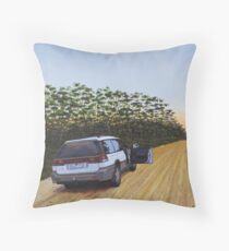 Lonely Stretch, Oil on Linen 61x46cm. Throw Pillow