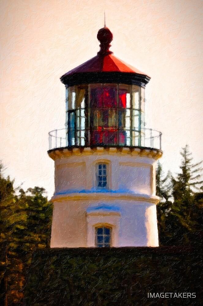 Umpqua River Lighthouse - Christmas Light by IMAGETAKERS