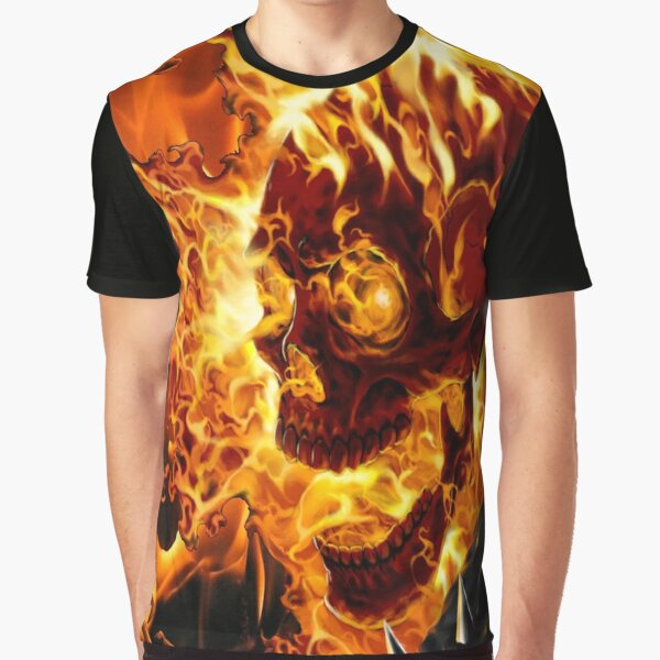 Wild Star Hearts Metal, Rock BONE CAGE Biker Mens T-Shirt // Goth