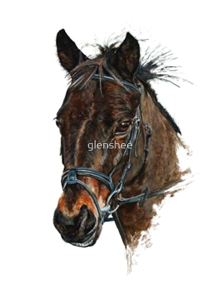 Pony head study art by glenshee