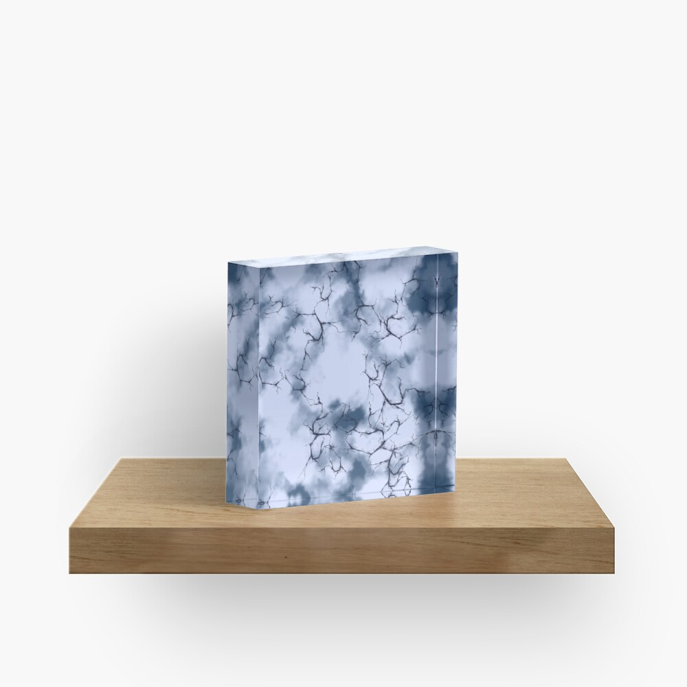 dark lightning flashes in the clouds around the eye of the storm Acrylic Block