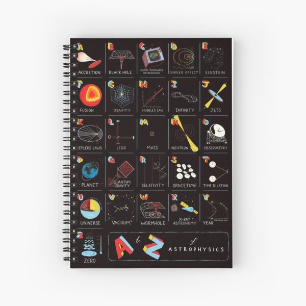 A to Z of Astrophysics Spiral Notebook