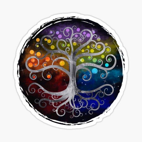 Tree of life Silver Swirl  Sticker