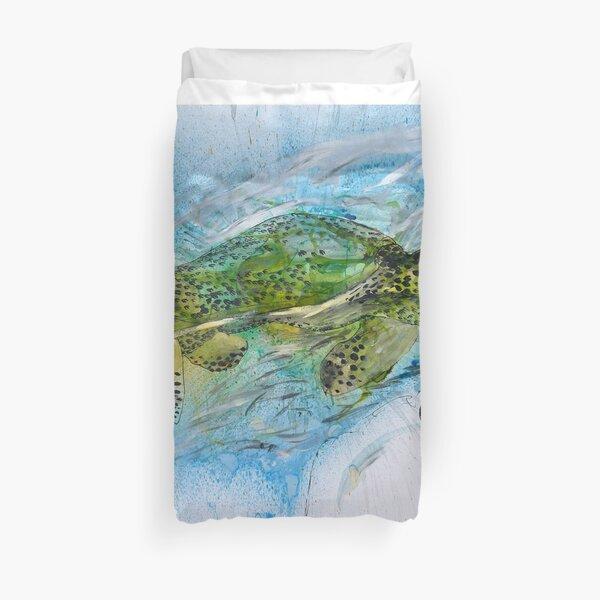The Endangered Hawksbill Turtle Duvet Cover