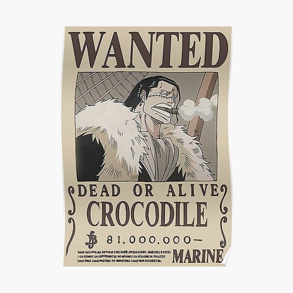 Crocodile Wanted - One Piece Poster