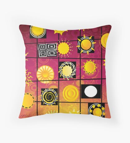 """Running in Square Circles"" Throw Pillow"