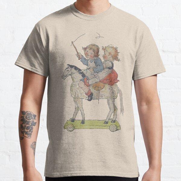 Kids having fun on Hobby Horse..vintage Germany Classic T-Shirt