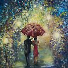 """ Night walk after rain "" by Agnieszka A. Jargiello"