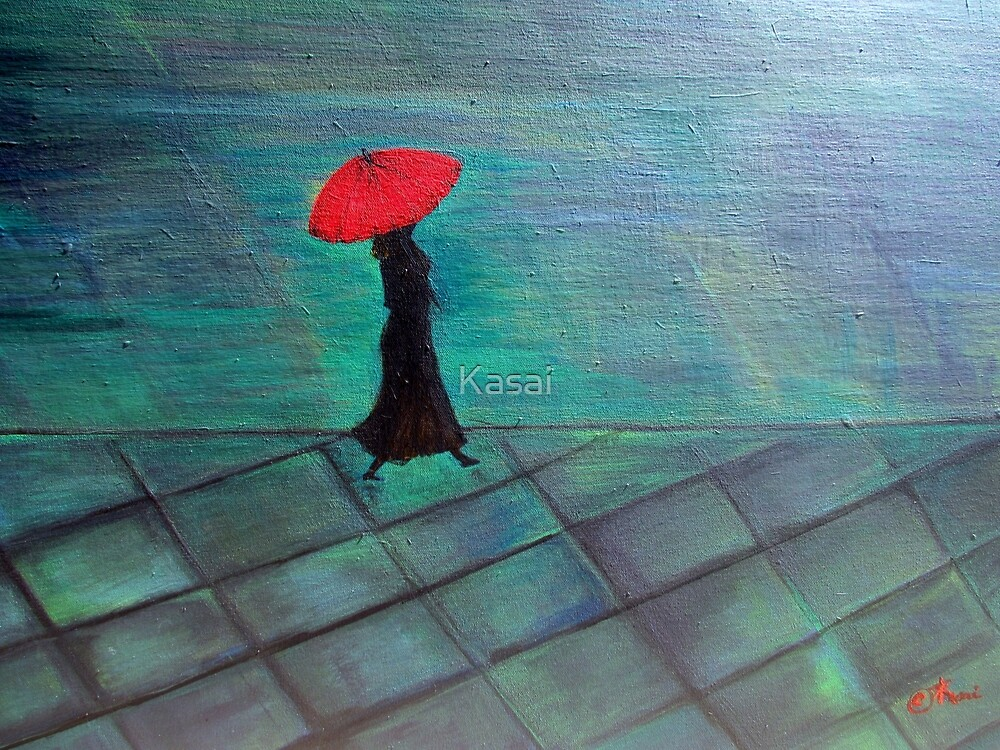 Red Umbrella by Kasai