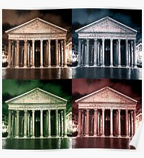 Pantheon in four colours. Poster