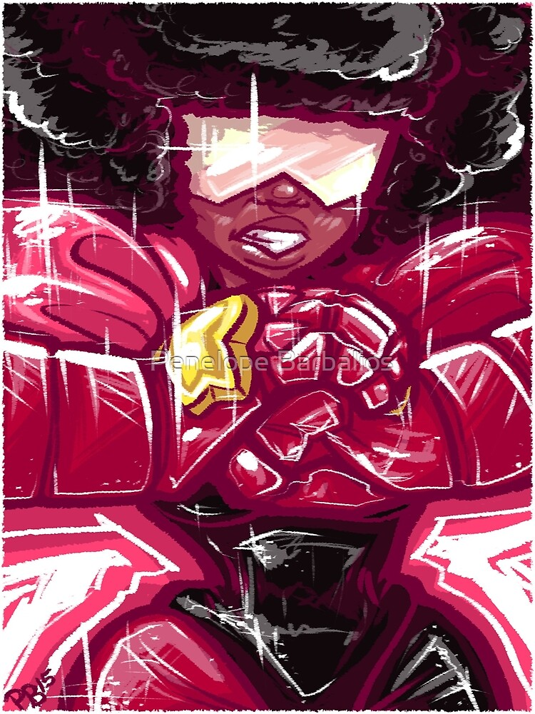 Painted Garnet by Penelope Barbalios