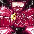 Painted Garnet by Penelope Barbalios