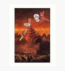 M Blackwell - Coming Down Too Fast... Art Print
