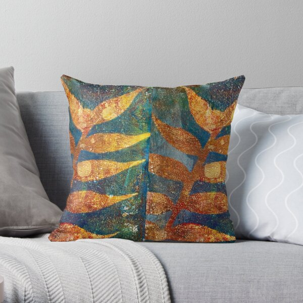 Golden time of the year Throw Pillow