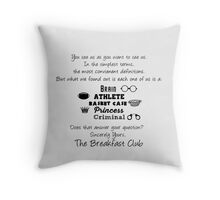 Sincerely Yours the Breakfast Club minimalist |Typography Throw Pillow