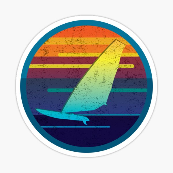 WINDSURFING @ sunset Sticker