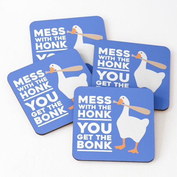 Mess With The Honk, You Get The Bonk Coasters (Set of 4)