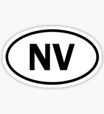 Nevada - NV - oval sticker and more Sticker