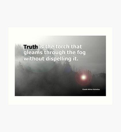 fog and truth Art Print