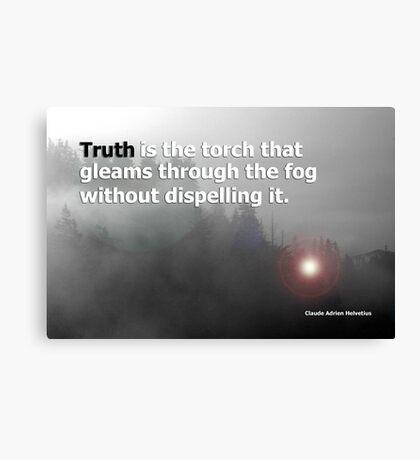 fog and truth Canvas Print