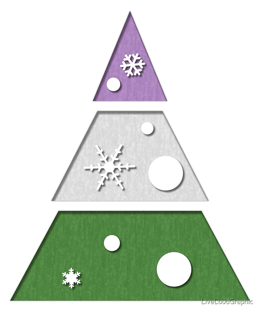 Genderqueer Xmas Tree by LiveLoudGraphic