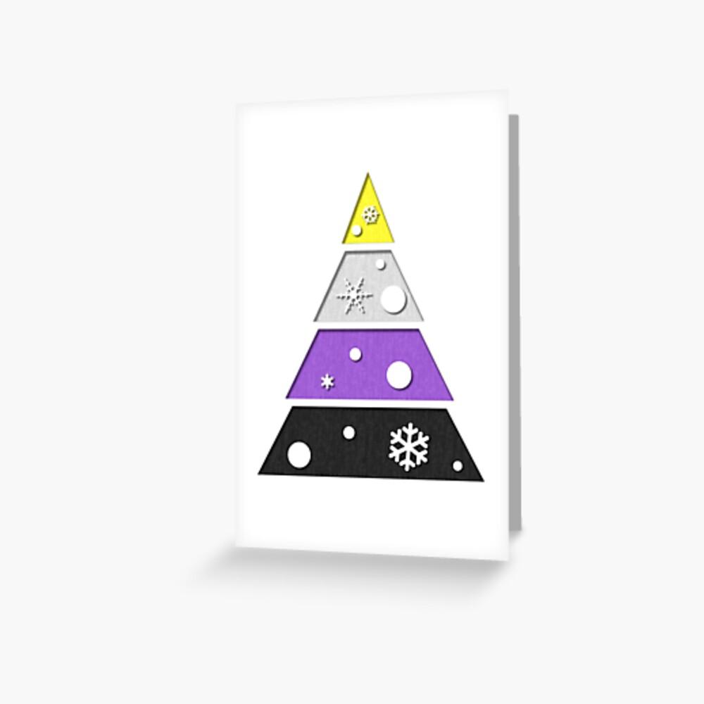 Non-Binary Xmas Tree Greeting Card