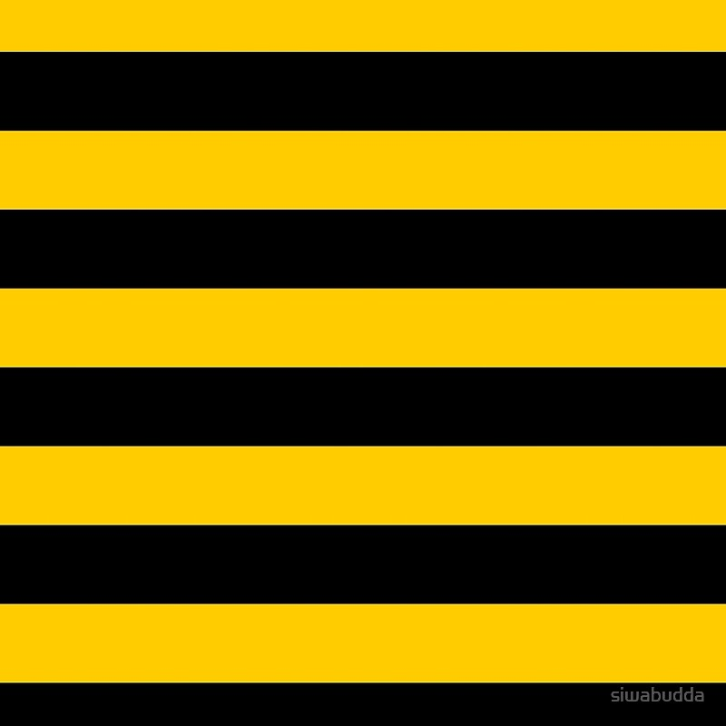 Bee Pattern Black And Yellow Stripes