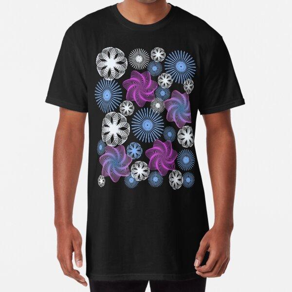 Dancing Spirographs Long T-Shirt