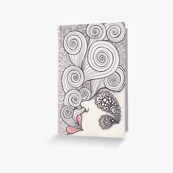 Inhale Greeting Card
