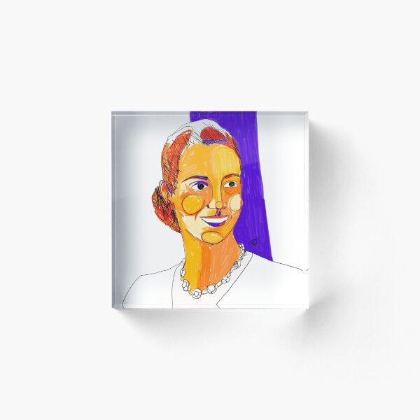 María Eva Duarte de Perón by Aitana Pérez Bloque acrílico