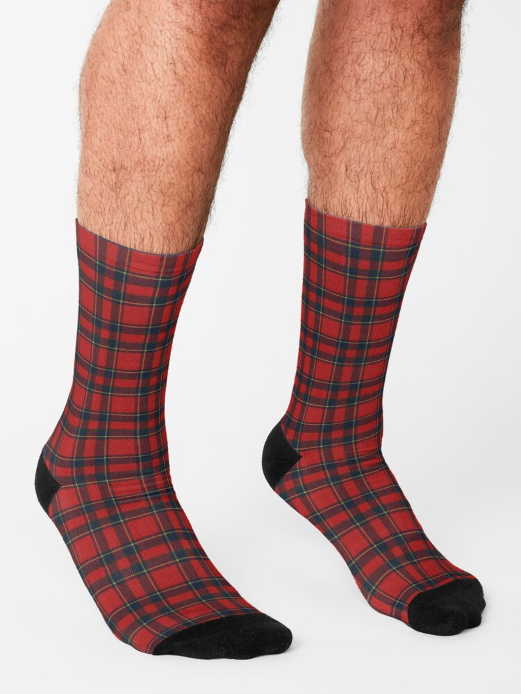 Alternate view of Invernness Modern Scottish Tartan Socks