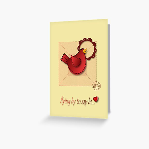 Applique Inspired Greeting  Greeting Card