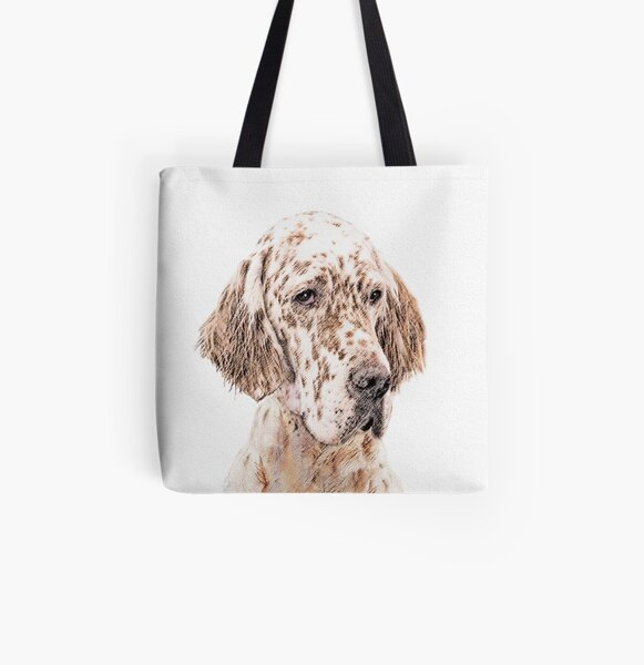 English Setter (Orange Belton) All Over Print Tote Bag