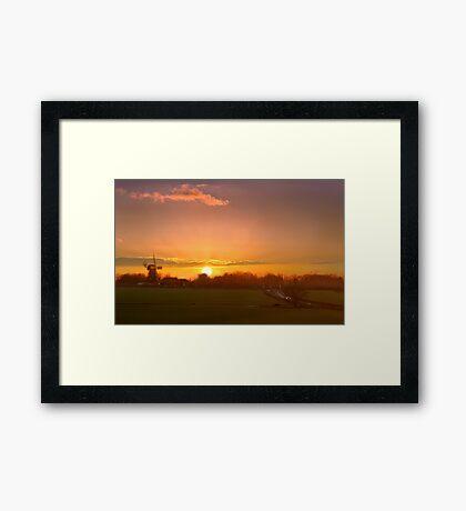 Sunset over Sarre Framed Print