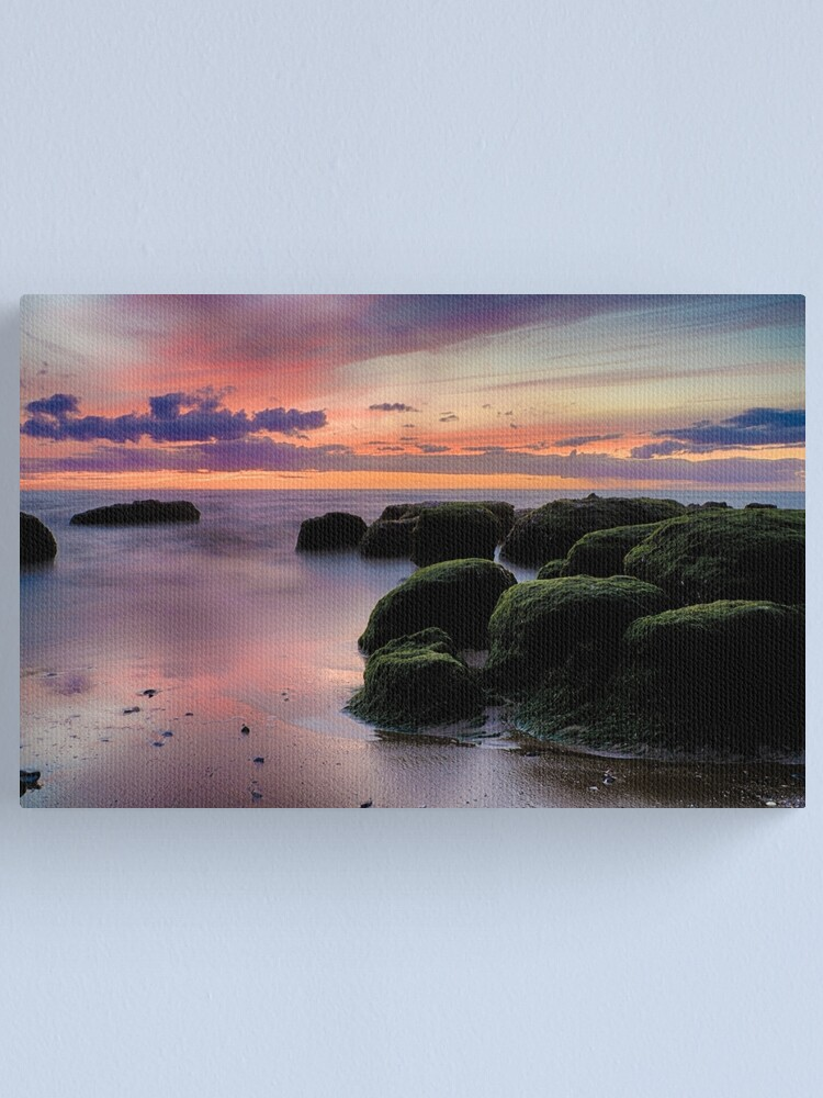 Alternate view of The Boulders of Hunstanton Beach Canvas Print