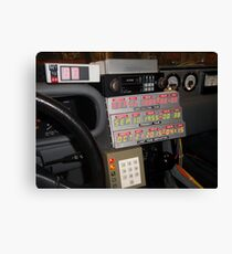 Back To The Future Time Display Canvas Print
