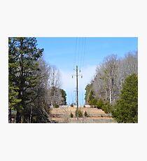 Power lines of Greenwood Photographic Print