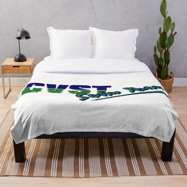 CVST Swimming Rectangle Logo Throw Blanket