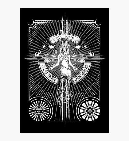 Religio Sine Scienta Nihil Est Photographic Print