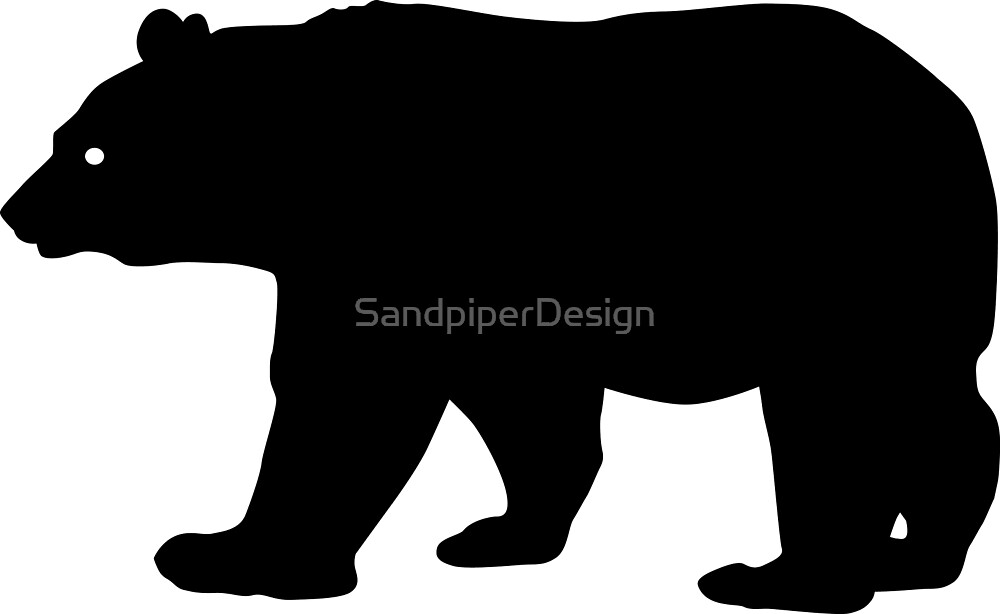 Black Bear Silhouette Image by iDrawSilhouettes on Redbubble