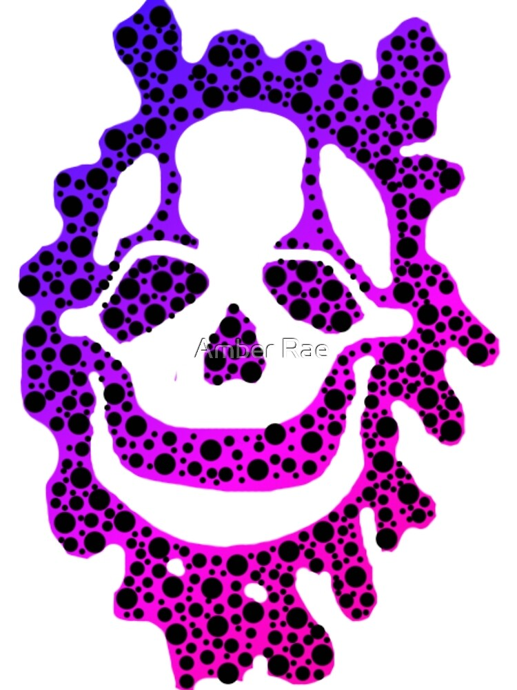 Toxic Skull (Blue and Purple) by AuraNightRose
