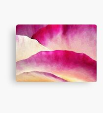 Curves of Rose Petals: Abstract 2 Canvas Print
