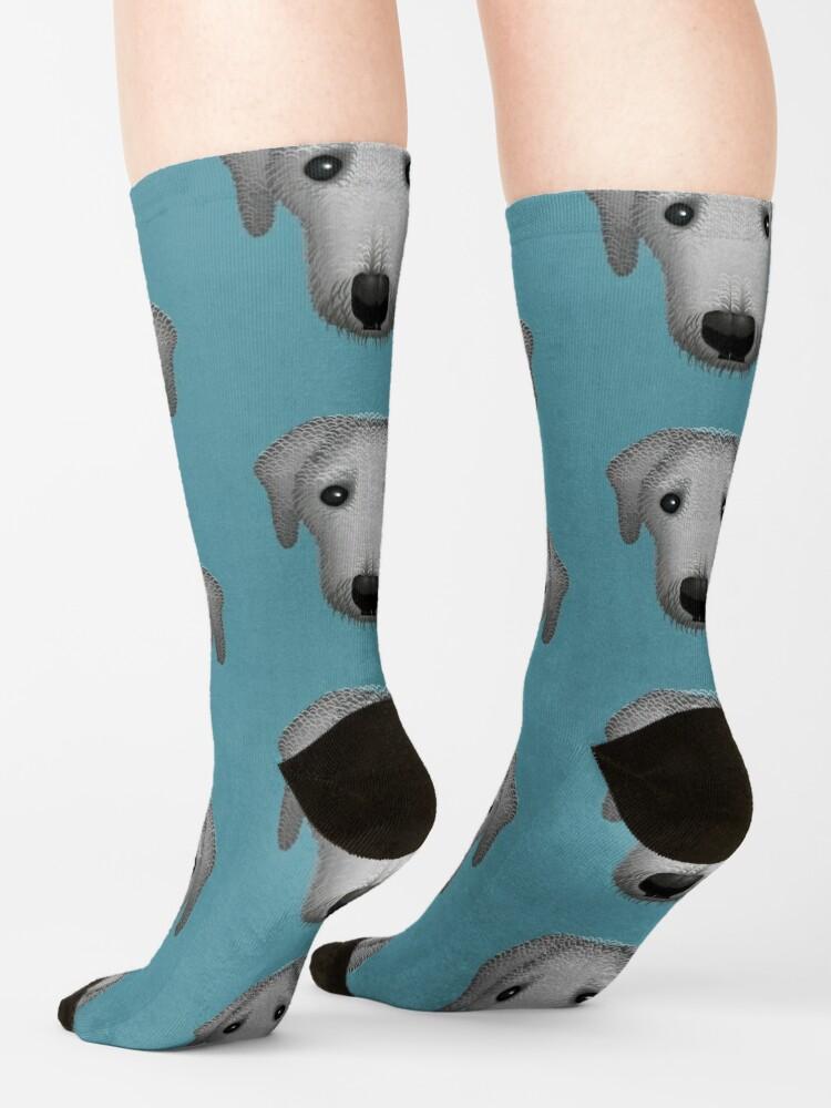 Alternate view of NDVH Bertie the Bedlington Socks