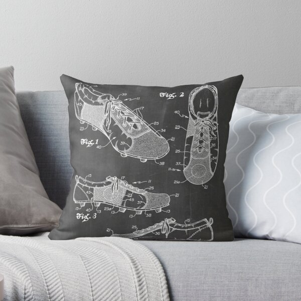 Soccer Cleats Patent Throw Pillow