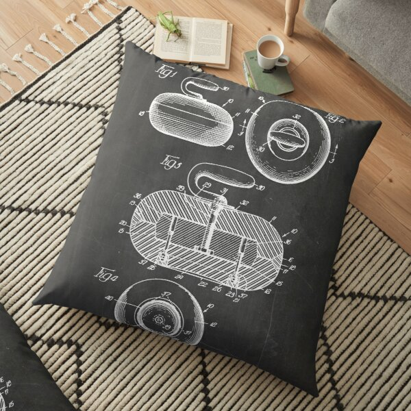 Curling Stone Patent Floor Pillow