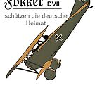 Fokker DVII protect the Homeland..WWI by edsimoneit