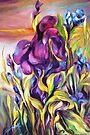 Wild Iris Bank by Barbara Sparhawk