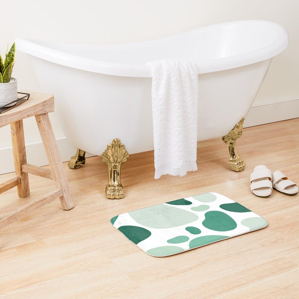 mint abstract  Bath Mat